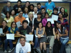 Alumnos que hicieron posible el programa de TV